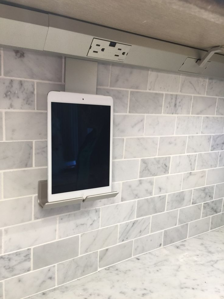 Kitchen outlet with iPad stand- need this for cooking #LGLimitlessDesign #LGLimitlessDesign #Contest