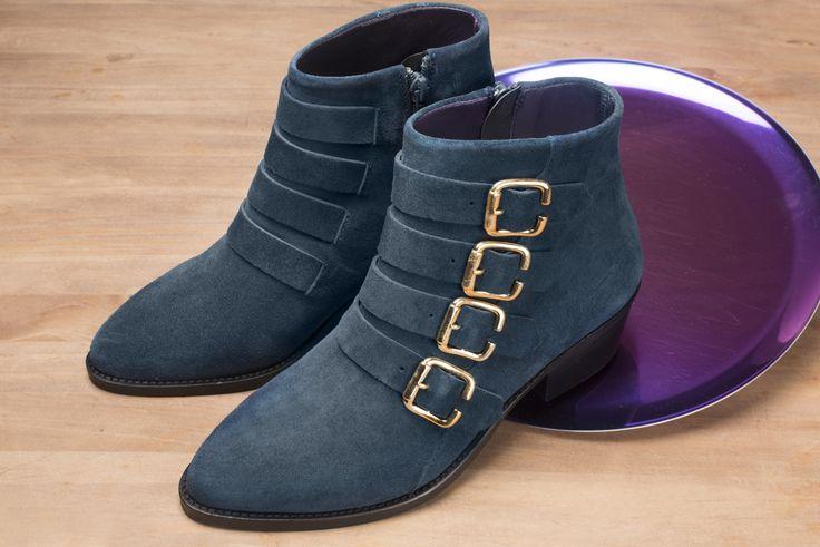Sofia velours bleu pétrole #anaki #boots #bottines #vintage #shoes