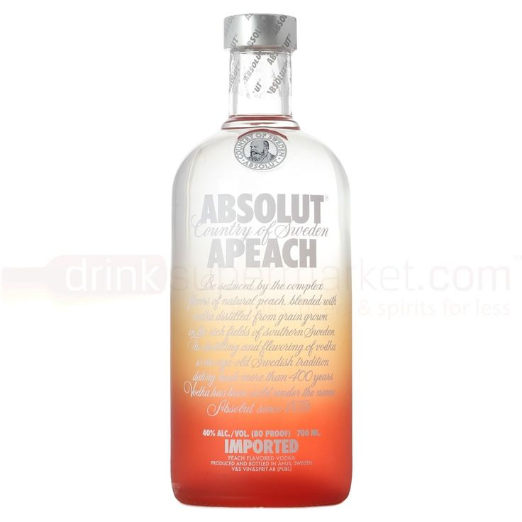 Great vodka....Love the peach