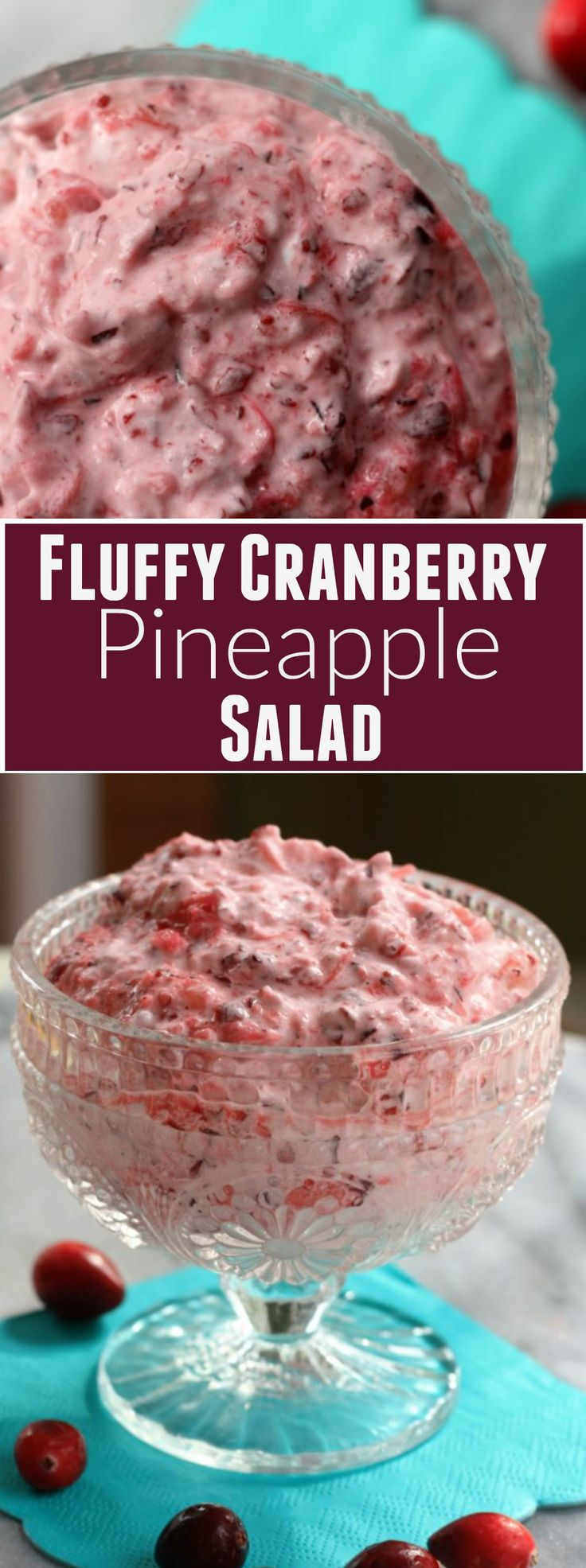 Fluffy Cranberry Pineapple Salad
