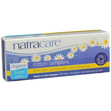 Natracare tampons are made from only certified organic 100% cotton and are the only fully certified organic cotton tampons available in the world today. They are non-chlorine bleached and women can be reassured that they do not contain synthetic materials, such as rayon, or chemical additives such as binders or surfactants. Certified organic cotton removes the risk of direct exposure to residues from chemical pesticides and fertilizers used on traditional cotton.