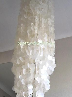 MUSCHELLAMPE Deckenleuchte 2 Meter XXL CAPIZ LAMPE Chandelier - NATUR - NEU