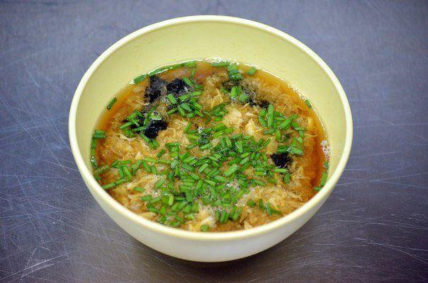 Японский суп с рисом, тофу и яйцом