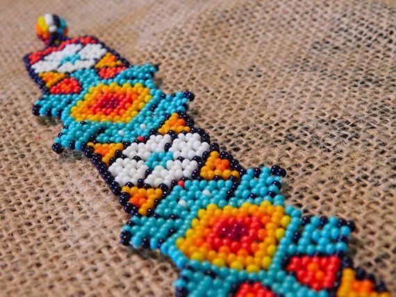 Huichol Intricate Handmade Beaded Lizard Mexican Colorful