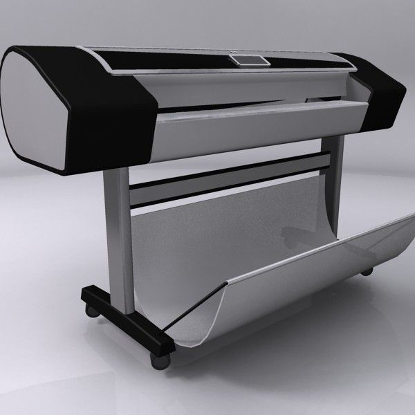 3d model hp designjet z3200 plotter