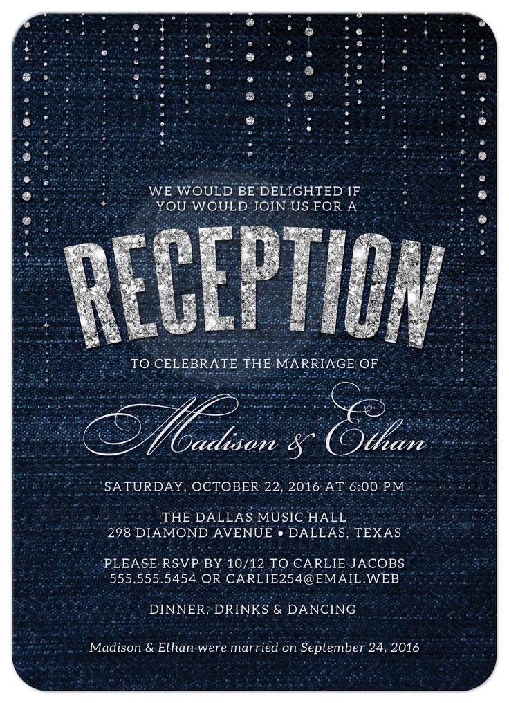 17 best ideas about Reception Invitations on Pinterest | Wedding ...