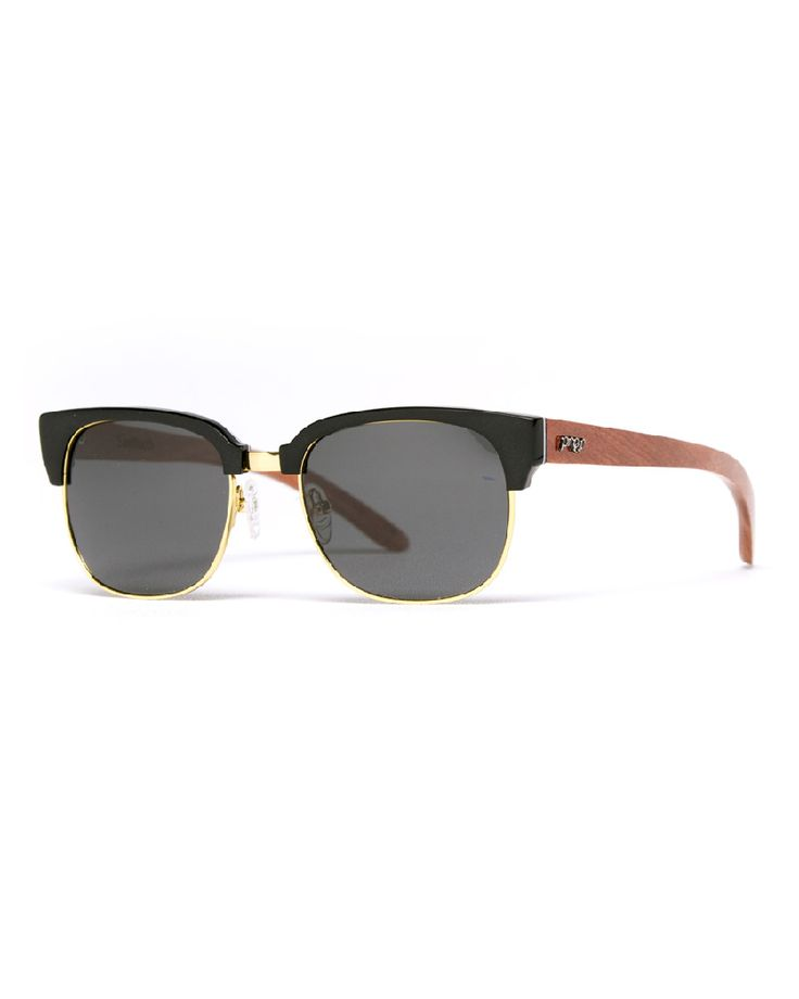 Proof eco friendly sunglasses. Crafted fromplant based acetate materials and the finest woods available. The Sawtooth is a twist on avintage 60's style frame with futuristic lines and accents. $179 |Eco Guardian.