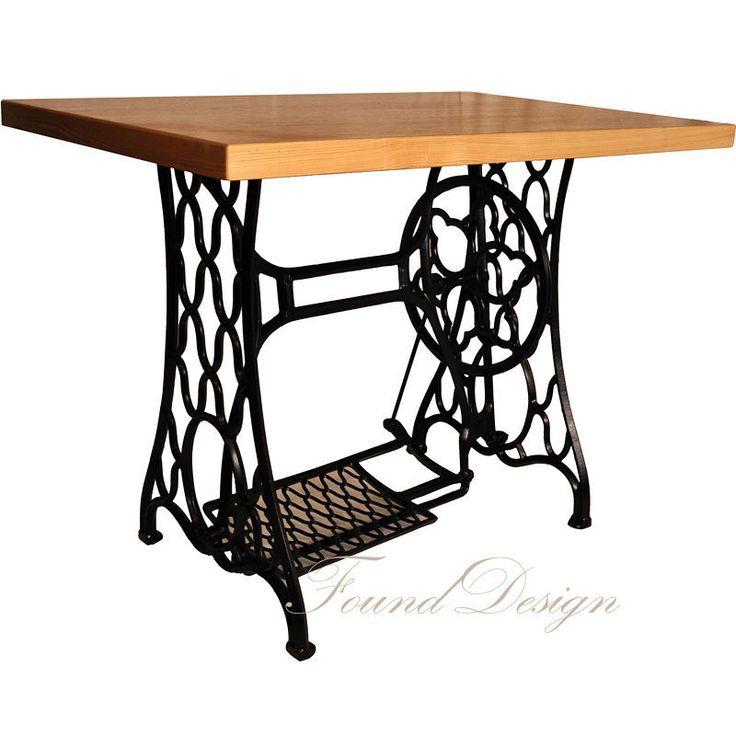 Купить Письменный стол Зингер - черный, чугун, дуб, стол, письменный стол, Кованый стол
