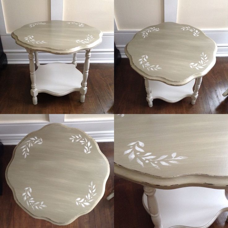 Diy Shabby Chic Coffee Table: Shabby Chic Coffee Table,chalk Painted Two Tone Linen And
