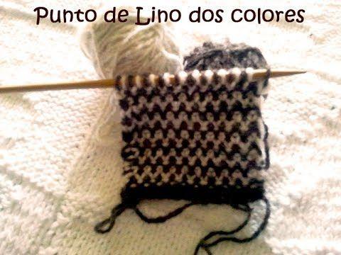 Punto de Lino: aprende a combinar colores con dos agujas
