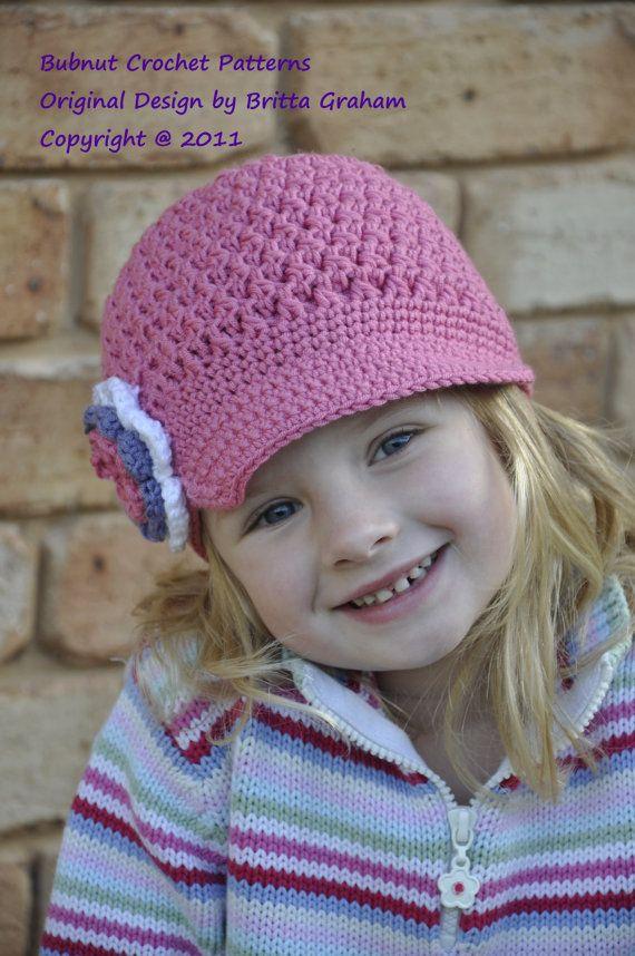 Crochet Hat Pattern Textured Newsboy Pattern No407 Ten Sizes