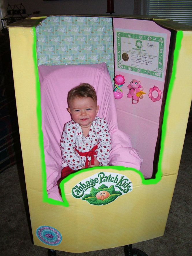 """Cabbage Patch Kid theme party? Create a """"box"""" to use for a photo booth opportunity!"""