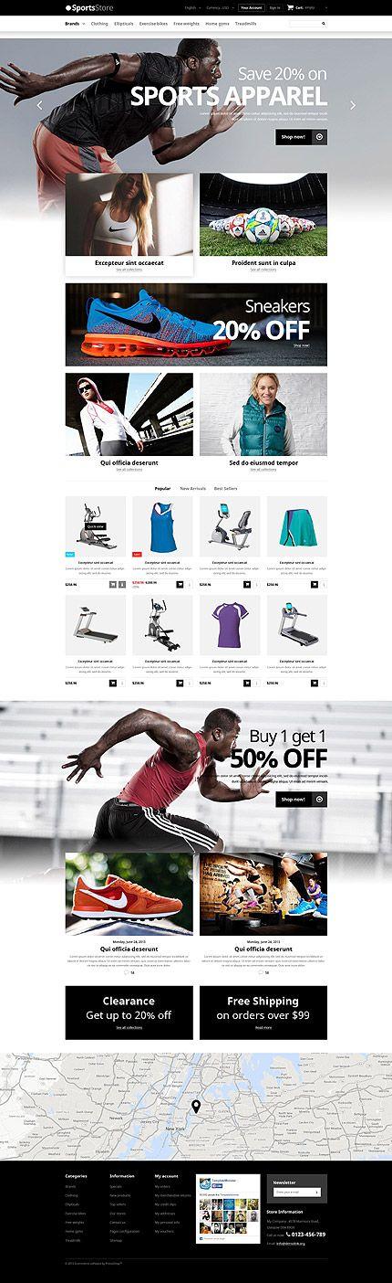 Sports Online Store #Prestashop #template. #themes #business #responsive #webshop