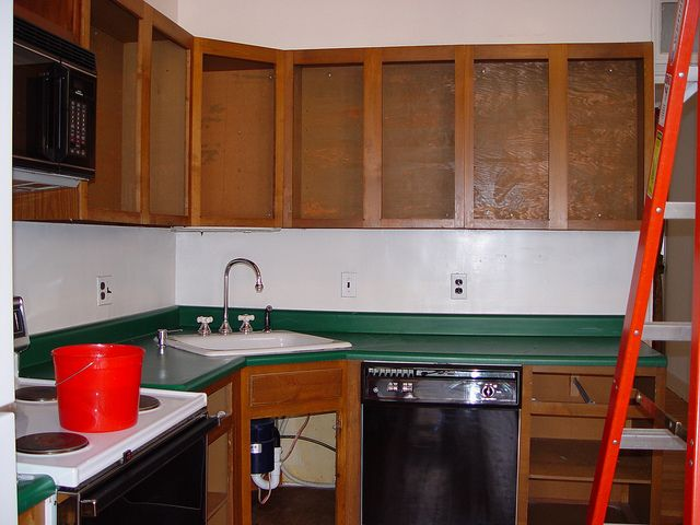 Cheap and easy outdated kitchen update without full remodel.