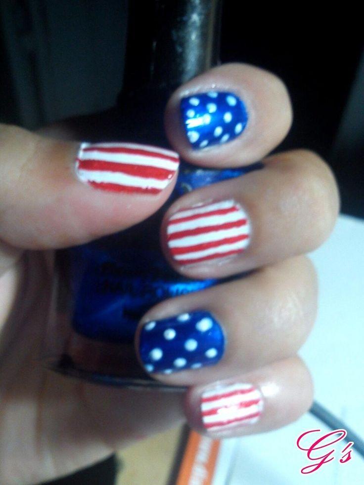 Easy 4th July nails :) (2012) #nail #nails #Gs #4thjuly