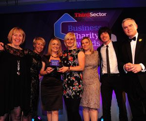 Society's client B&Q wins big at the Business Charity Awards.