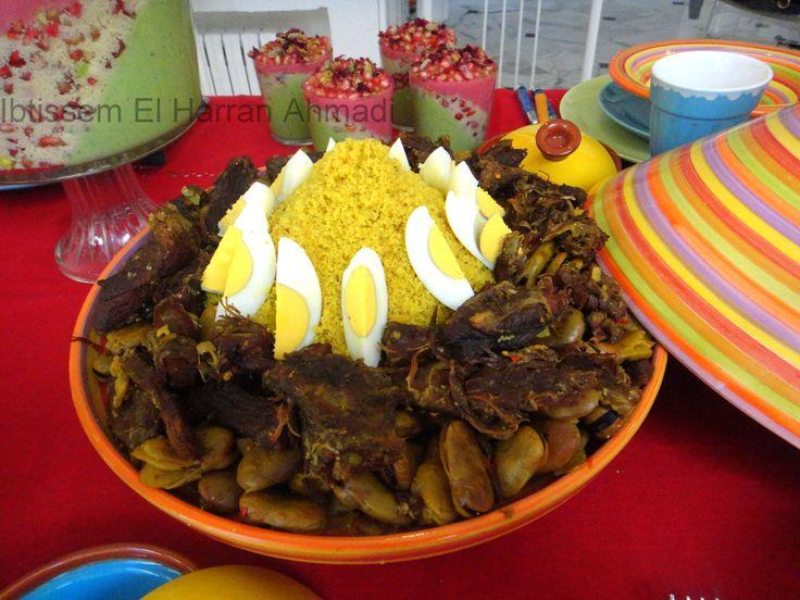 Couscous la viande s ch e et aux f ves cuisine - La cuisine juive tunisienne ...