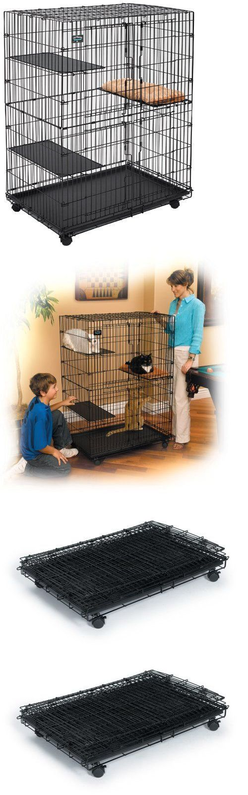 Carriers and Crates 116362: Cat Playpen Cage Pet Dog Pen Comfortable Wheels Large Swing Open Front Midwest N BUY IT NOW ONLY: $135.99