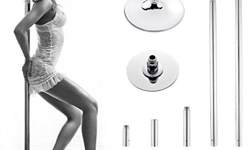 Rovate® 45mm Hochwertige Edelstahl Profi Pole Dance Stange Tanzstange 274cm…