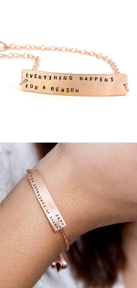 customizable fortune cookie bracelet