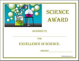 The 25 best award templates free ideas on pinterest free certificate science awarded to for excellence in yadclub Gallery