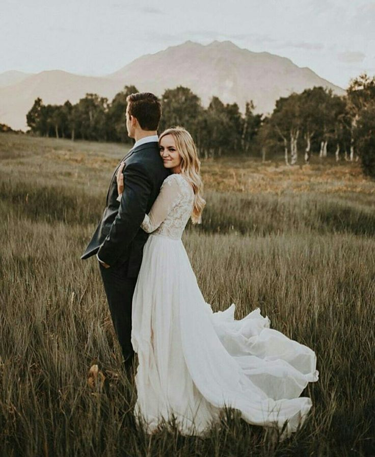 Modest wedding dress with long sleeves from alta moda bridal. (modest bridal gown)