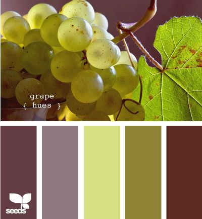 """Love this """"grape hue"""" color palette. Grape, eggplant and olive are my absolute FAVORITE colors."""