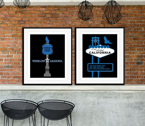 Music Lyric Art Print Take it Easy by the Eagles Band band for the Music Lover on your Gift List. Unique Wall Art as a gift idea for your