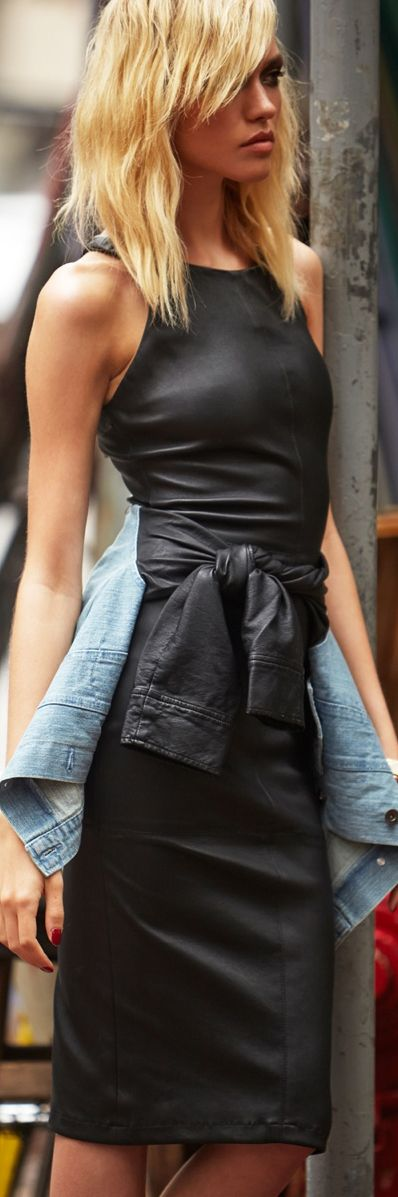STREET STYLE || Leather | Denim