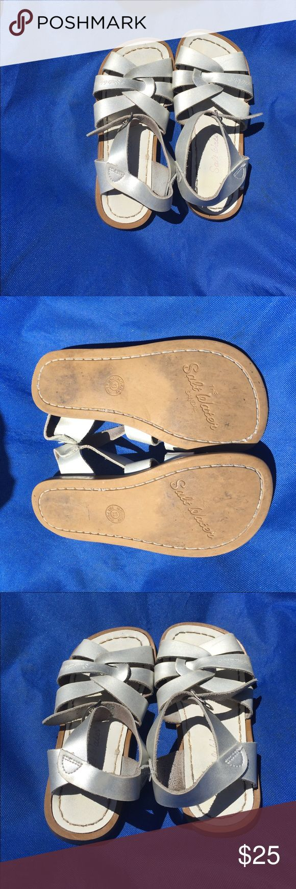 Salt water sandal the original In silver size 13 Salt water sandals by hoy the original salt water sandal in silver size 13 girls. Good used condition Salt Water Sandals by Hoy Shoes Sandals & Flip Flops