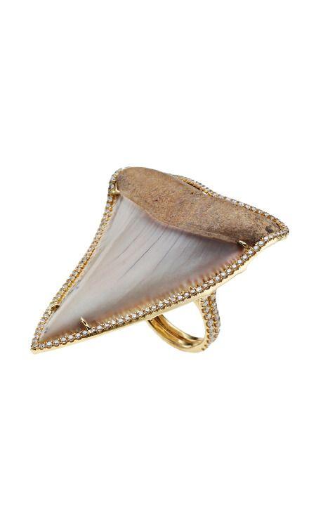 Anita Ko  Pavé Shark Tooth Ring