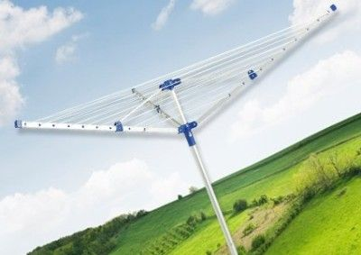 Rotary Small Sized Washing Line In White And Blue