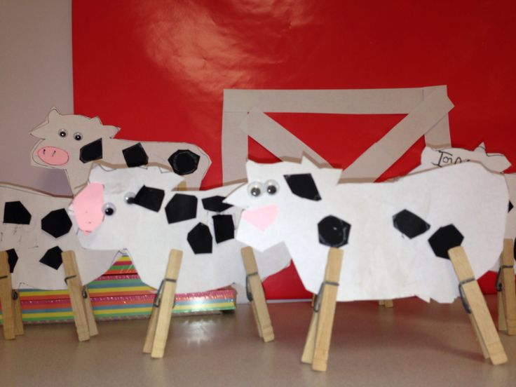 Easy Cow Craft For Farm Unit My Classroom Pinterest