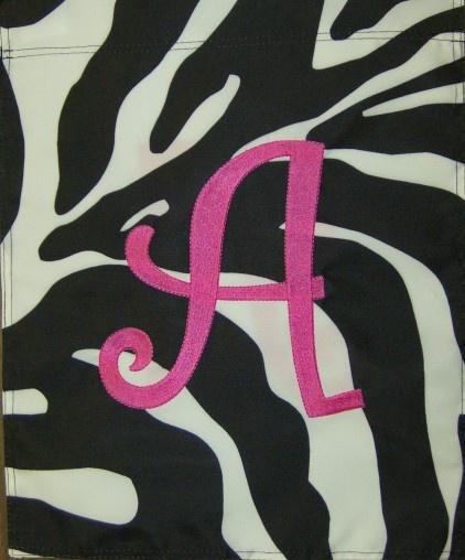 AG loves anything zebra & hot pink!!