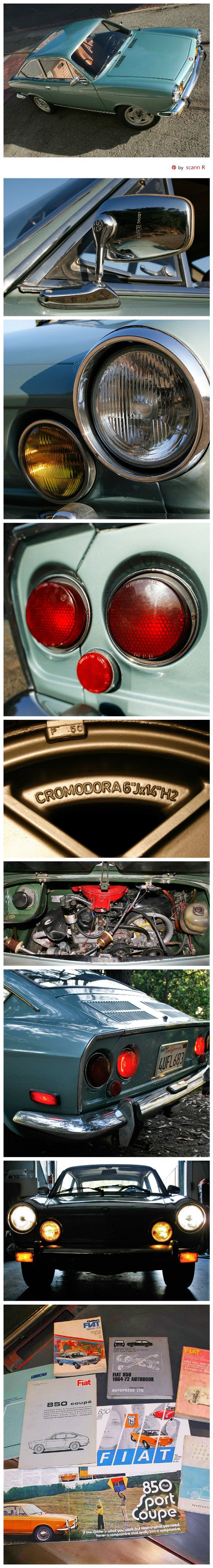 1971 Fiat 850 Sport Coupe (Series II) details | Pin made by scann R