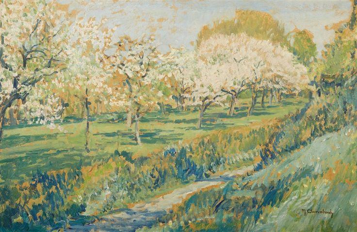 Max Clarenbach, Frühling - Wittlaer, Auktion 1037 Gemälde 15. - 19. Jh., Lot 83