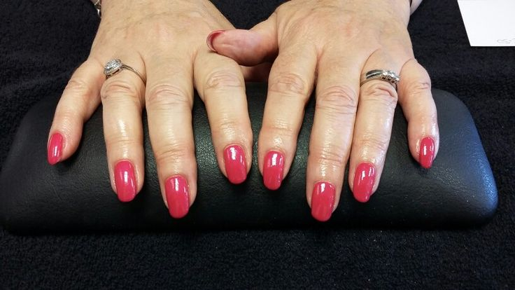 Funky Fuschia Biosculpture Gel overlays....NO EXTENSIONS!!...client has grown her own nails with the help of Biosculpture Gel