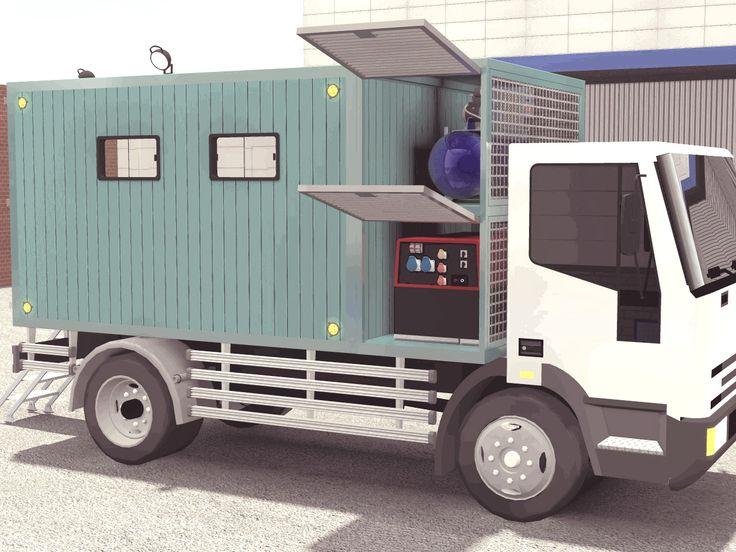 Mobile workshop trucks via www.aluratrailer.com