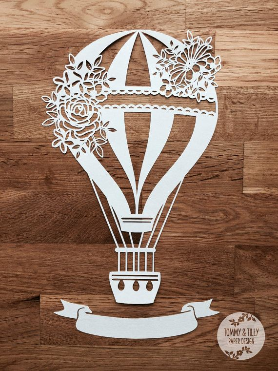 SVG / PDF Wedding Hot Air Balloon Design от TommyandTillyDesign