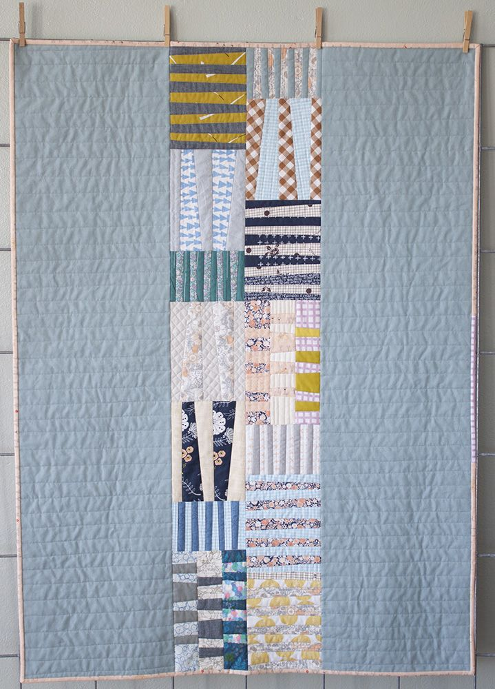 Totem quilt for Laurie by Carolyn Friedlander