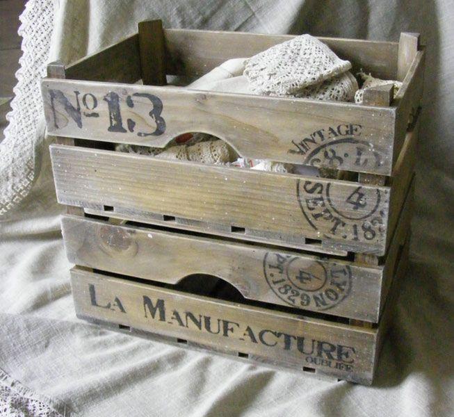 Les 87 meilleures images propos de cagettes d cor es sur - Ou trouver des caisse en bois ...