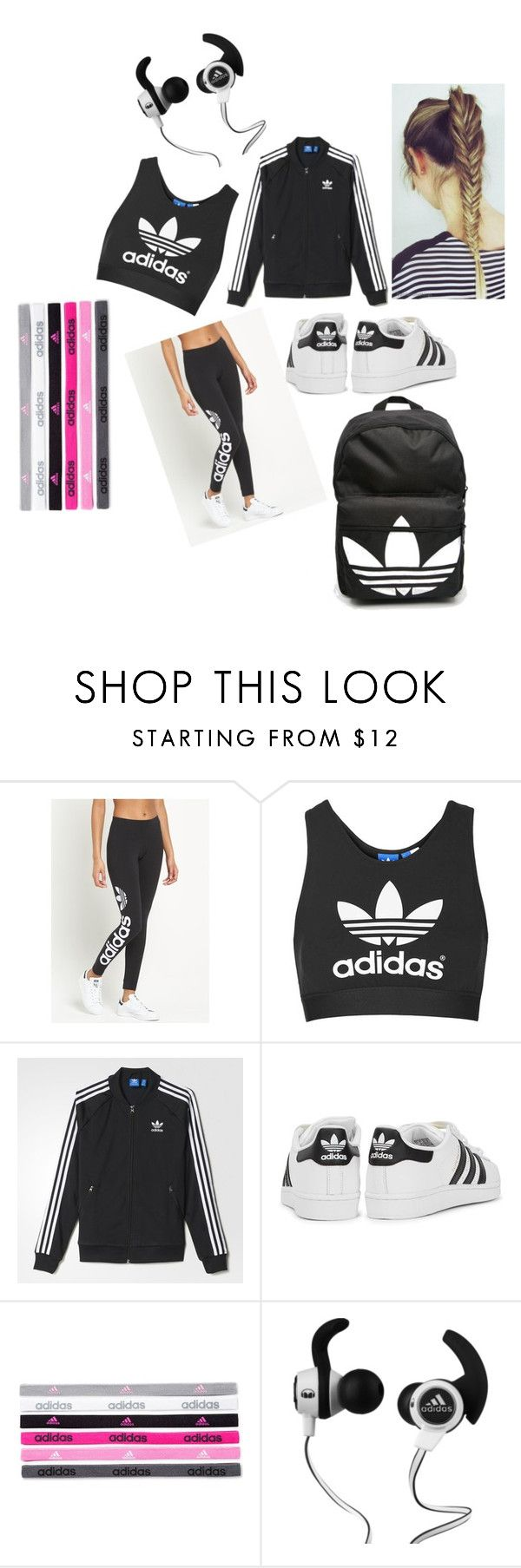 """""""Adidas"""" by olivia-martinez-i ❤ liked on Polyvore featuring adidas Originals, Topshop, adidas and Monster"""