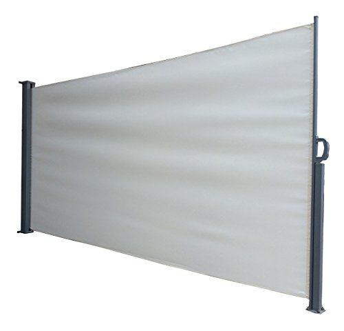 Foxhunter garden patio terrace sunshade blind retractable for Retractable outdoor screens