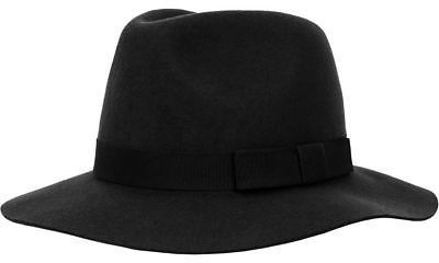 Brixton Indiana Fedora - Women's Washed Black S