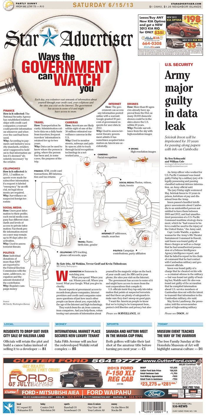 A Clever Infographic... #infographic #visualdata #infographics ways the government watches you
