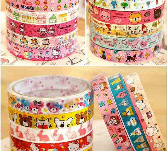 Kawaii Deco Tape by ShipshapeSupply on Etsy