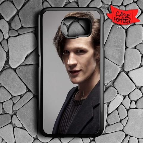 Matt Smith Is Doctor Who Samsung Galaxy S7 Black Case