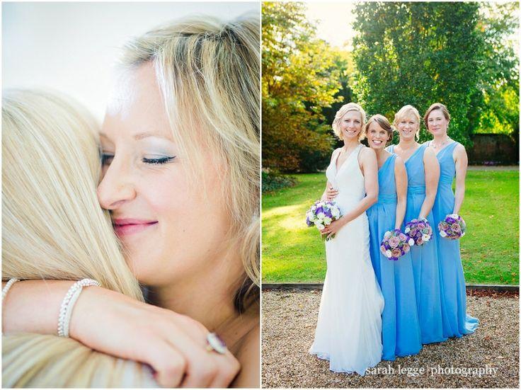 Long pale blue bridesmaid dresses