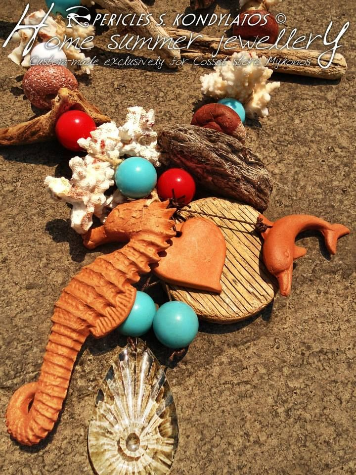Home summer jewellery by Pericles Kondylatos  Custom-made exclusively for Cosset store Mykonos