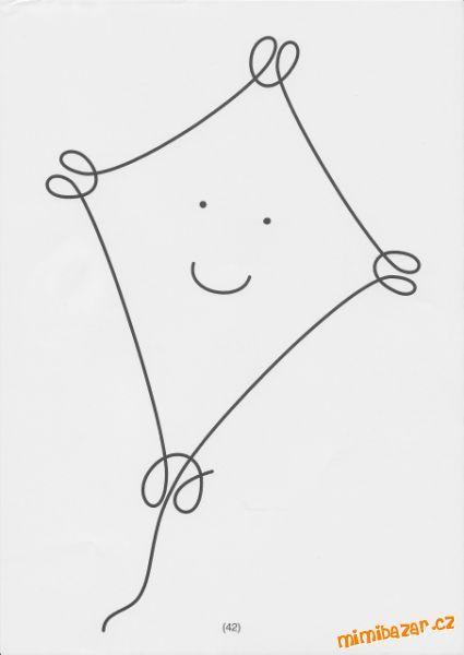 "One line no lifting of pencil  Uvolňovací grafomotorické cviky ""Jedním tahem"""